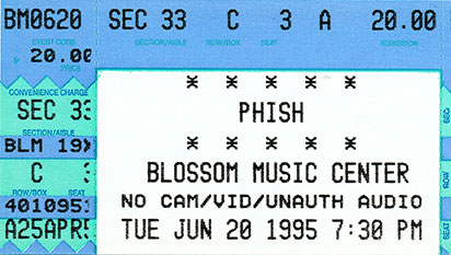 Live Phish Downloads 6-20-1995
