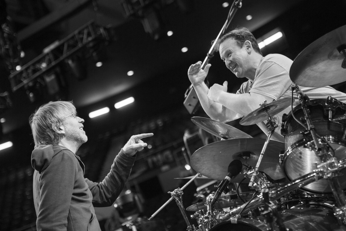 © 2019 Phish (Trey and Fish at soundcheck) (Rene Huemer)
